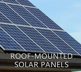 Roof-mounted solar panels